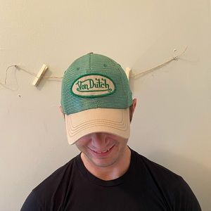 Von Dutch Green Trucker Hat